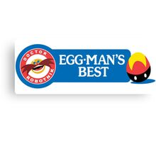 Egg-Man's Best Canvas Print