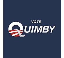 Vote Quimby Photographic Print