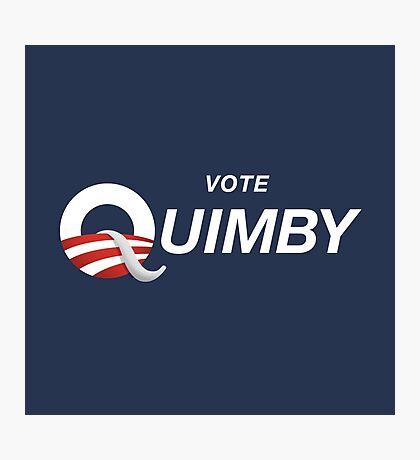 Vote Quimby Photographic Print