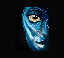 Blue oil pastel inspired by Avatar by ArtistMelissa
