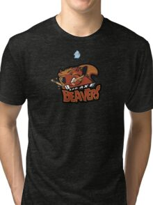 Bad Axe Beavers Tri-blend T-Shirt
