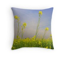 Mustard Field Throw Pillow
