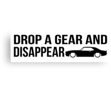 """Drop a gear and disappear"" - Chevrolet Camaro Canvas Print"