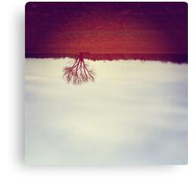 One Red Tree Canvas Print