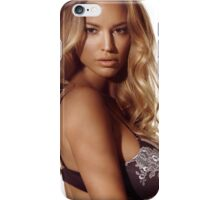 Portrait of a beautiful woman with blond hair wearing lingerie art photo print iPhone Case/Skin