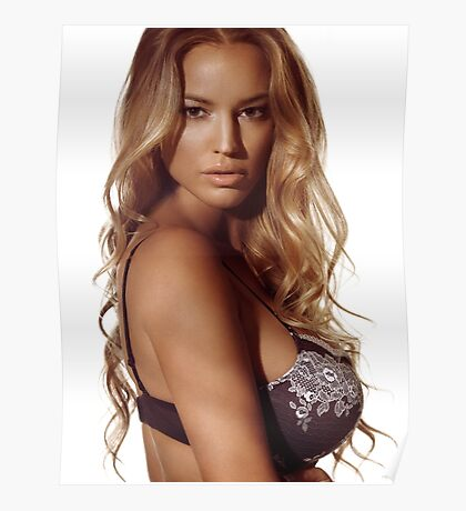 Portrait of a beautiful woman with blond hair wearing lingerie art photo print Charlie Riina Poster