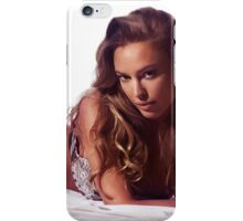 Glamour portrait of sexy young woman lying on bed art photo print iPhone Case/Skin