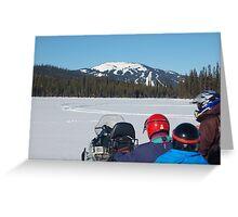 Lake sledding Greeting Card