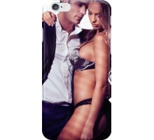 Sexy couple portrait woman in lingerie and man in suit art photo print iPhone Case/Skin