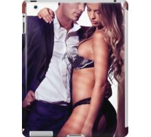 Sexy couple portrait woman in lingerie and man in suit art photo print iPad Case/Skin