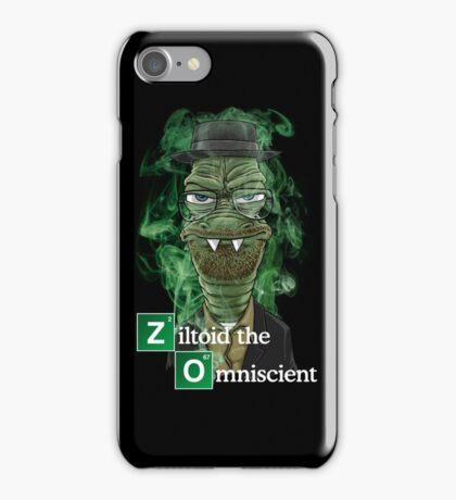 Ziltoid as Heisenberg - Black iPhone Case/Skin