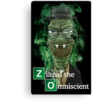 Ziltoid as Heisenberg - Black Canvas Print