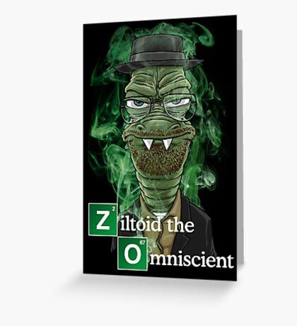 Ziltoid as Heisenberg - Black Greeting Card