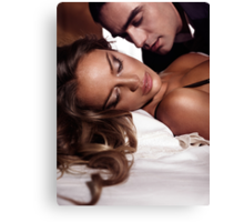 Sensual artistic portrait of a couple art photo print Canvas Print