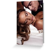 Sensual artistic portrait of a couple art photo print Greeting Card
