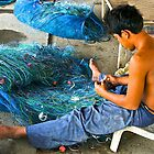 Preparing the Nets, Hua Hin, Thailand, by johnrf