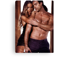 Artistic portrait of a sexy young couple art photo print Canvas Print