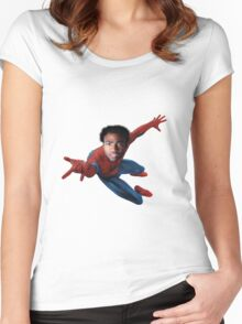 Donald for Spiderman Women's Fitted Scoop T-Shirt