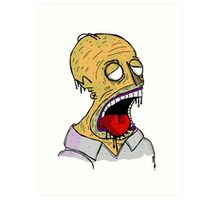 Zombie Homer Art Print