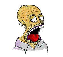 Zombie Homer Photographic Print