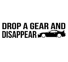"""""""Drop a gear and disappear"""" - Toyota Supra Photographic Print"""