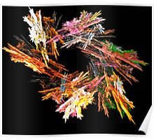 A Swirl of Colored Flakes Poster