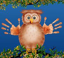 Peek-a-Boo Owl Critter by Carol Heath