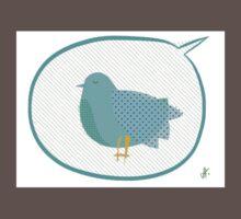 Big Blue Bird  Baby Tee