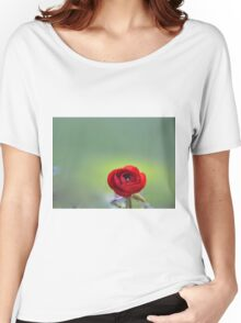 Red Ranunculus Macro  Women's Relaxed Fit T-Shirt