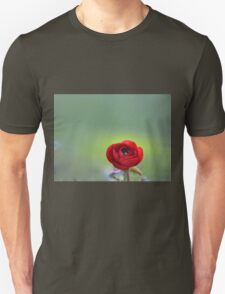 Red Ranunculus Macro  T-Shirt