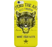 DEFEND THE ARTS PANTHER iPhone Case/Skin