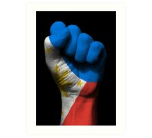 Flag of The Philippines on a Raised Clenched Fist  Art Print