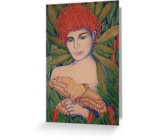 Waratah woman Greeting Card