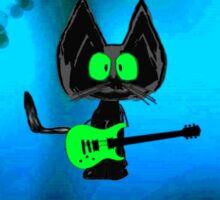 Tattered Mouse, a Rock Star Cat Sticker