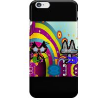 Hippie Cats Play Rock and Roll  iPhone Case/Skin