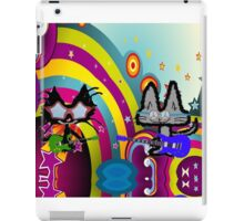 Hippie Cats Play Rock and Roll  iPad Case/Skin