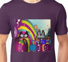 Hippie Cats Play Rock and Roll  Unisex T-Shirt