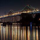 Reflecting under the Oakland Bay Bridge by MattGranz