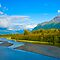 Talkeetna Range and River, Alaska by Albert Dickson
