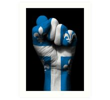 Flag of Quebec on a Raised Clenched Fist  Art Print