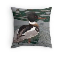 Red Breasted Merganser Throw Pillow