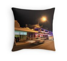 A Busy Night in Bridgetown, Western Australia Throw Pillow