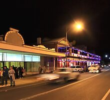 A Busy Night in Bridgetown, Western Australia by Elaine Teague