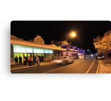 A Busy Night in Bridgetown, Western Australia Canvas Print