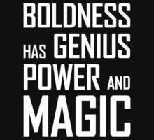 Boldness has Genius, Power and Magic (Goethe) white version Kids Clothes