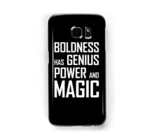 Boldness has Genius, Power and Magic (Goethe) white version Samsung Galaxy Case/Skin