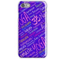 Yoga Asanas Positions iPhone Case/Skin