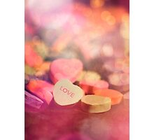 Candyheart Love Photographic Print