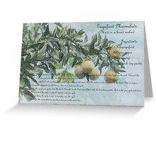 Grapefruit Marmalade Greeting Card