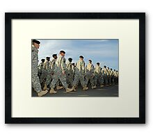 Soldiers in step  Framed Print